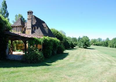 Meadow behind house